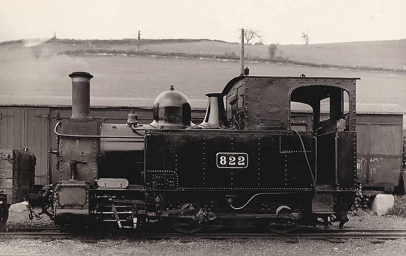 WELSHPOOL & LLANFAIR LIGHT RAILWAY - 822 THE EARL - 0-6-0T built 1902 by Beyer Peacock & Co. - one of the two original locos supplied to the line and still operational - seen here after GWR rebuild in 1931.