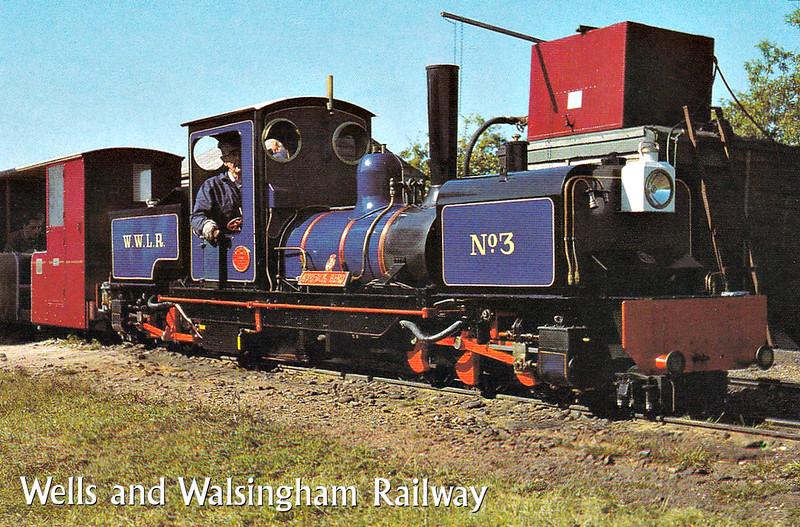 WELLS & WALSINGHAM LIGHT RAILWAY - No.3 NORFOLK HERO - 2-6-0+0-6-2T Garratt - built 1986 by Neil Simkins - principal operational loco.