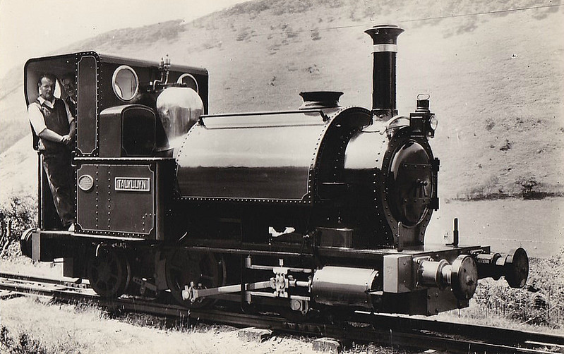 TALYLLYN RAILWAY - No.1 TALYLLYN - 686mm - built 8164 by Fletcher Jennings & Co. as 0-4-0ST - converted shortly after completion to 0-4-2ST - 1945 withdrawn - 1957 rebuilt and returned to service - seen here after rebuild I think.