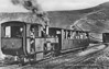 SNOWDON MOUNTAIN RAILWAY -  No.5 MOEL SIABOD - 0-4-2T - 800mm - built 1896 by Swiss Locomotive and Machine Works, Winterthur - still in service - seen here in the passing loop at Clogwyn Station as a descending train approaches in the 1950's.