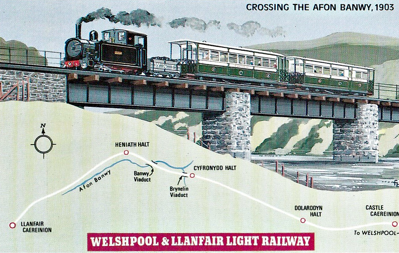 WELSHPOOL & LLANFAIR LIGHT RAILWAY No.4 - The line opened to goods traffic early in March, 1903, and to passengers a month later. Until the GWR took over in 1923, it was operated by Cambrian Railways for a percentage of the receipts.