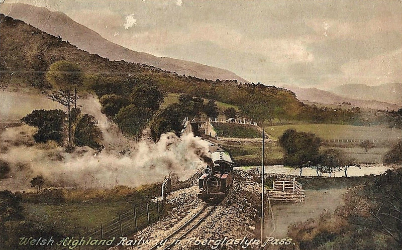 WELSH HIGHLAND RAILWAY - RUSSELL - 2-6-2T built 1906 by Hunslet Engine Co. for the Portmadoc, Beddgelert & South Snowdon Railway - 1922 acquired by Welsh Highland Railway - 1937 withdrawn when line closed - 1942 requisitioned by WD to opencast ironstone site near Hook Norton, Oxfordshire - 1945 to Norden Clay Mines, Corfe - prone to derailment on poor track - after severe axle damage in 1953, laid up - bought for £70 and sent to Talyllyn Railway - currently undergoing restoration