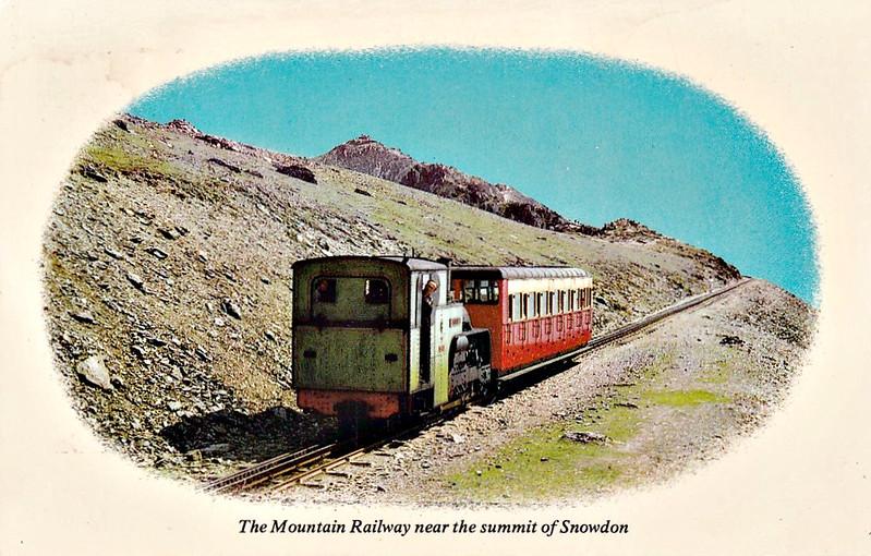 SNOWDON MOUNTAIN RAILWAY -  6 PADARN - 0-4-2T - 800mm - built 1922 by Swiss Locomotive and Machine Works, Winterthur - still in operation.