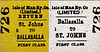 ISLE OF MAN RAILWAY TICKET - BALLASALLA - First Class Return to St John's.