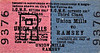 ISLE OF MAN RAILWAY TICKET - UNION MILLS - Third Class Monthly Return to Ramsey.