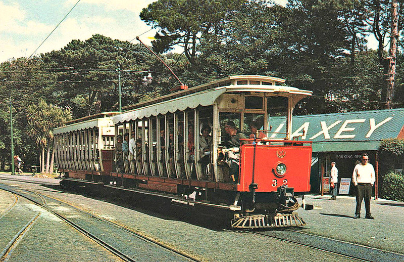 MANX ELECTRIC RAILWAY - No.32 - one of a pair and the newest vehicles on the line, easily capable of towing two trailers.