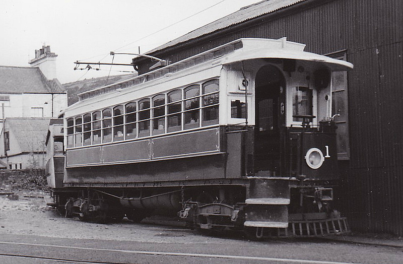 MANX ELECTRIC RAILWAY - No.1 - built in 1893, one of the three original cars on the line, two of which remain in service - seen here in 08/61.