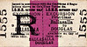 ISLE OF MAN RAILWAY TICKET - BALLASALLA - First Class Excursion to Douglas.