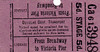 DOUGLAS HORSE TRAMWAY TICKET - BROADWAY to VICTORIA PIER or Vice Versa - Single - fare 5d.