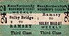 MANX NORTHERN RAILWAY TICKET - RAMSEY - Third Class Workmen's Weekly Return to Sulby Bridge - 'NOT available on SUNDAY's' on the reverse.