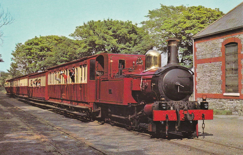 ISLE OF MAN RAILWAY - No.4 LOCH - 2-4-0T - built 1874 by Beyer Peacock Ltd - operational until  2015 but now withdrawn for repairs - seen here at Castletown.