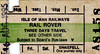 ISLE OF MAN RAILWAYS TICKET - THREE DAY RAIL ROVER - Valid on all of the island's railways but only for a single return journey on the Snaefell Mountain Railway - dated August 16th, 1995 - Style 1.