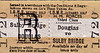ISLE OF MAN RAILWAY TICKET - DOUGLAS - Third Class HM Forces Day Return to Douglas.