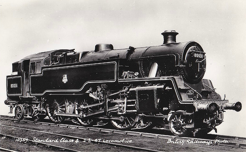 80031 - Riddles BR Class 4 2-6-4T - built 02/52 by Brighton Works - 09/64 withdrawn from 75B Redhill.