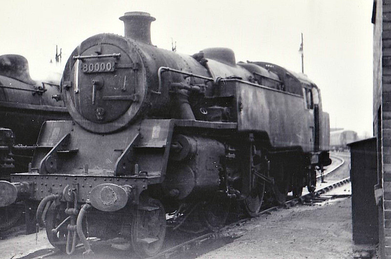 80000 - Riddles BR Class 4 2-6-4T - built 09/52 by Derby Works - 12/66 withdrawn from 67A Corkerhill, where seen 04/66.