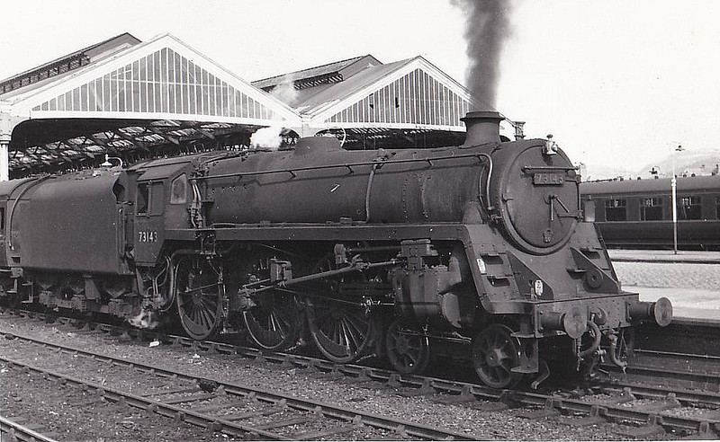 73143 - Riddles BR Class 5MT 4-6-0 - built 12/56 by Derby Works - 06/68 withdrawn from 9H Patricroft 73125 to 73154 were built with Caprotti valve gear.