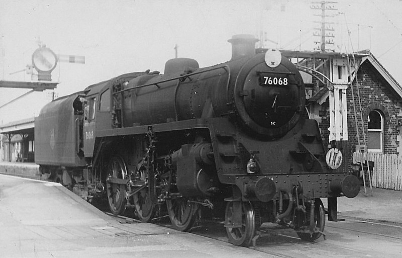 76068 - Riddles BR Class 3 2-6-0 - built 08/56 by Doncaster Works - 10/65 withdrawn from 71A Eastleigh.