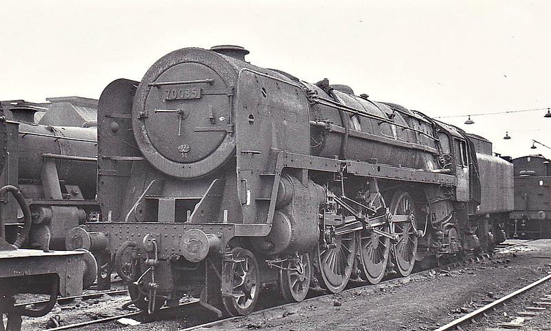 70035 RUDYARD KIPLING - Riddles BR Class 7 Britannia 4-6-2 - built 12/52 by Crewe Works - 12/67 withdrawn from 12A Carlisle Kingmoor - seen here at Crewe South, 09/66.