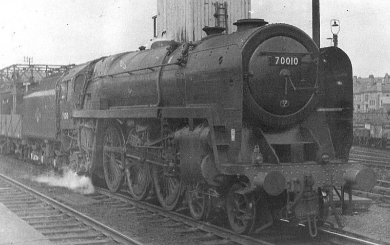 70010 OWEN GLENDOWER - Riddles BR Class 7 Britannia 4-6-2 - built 05/51 by Crewe Works - 09/67 withdrawn from 12A Carlisle Kingmoor - seen here before nameplates fitted.