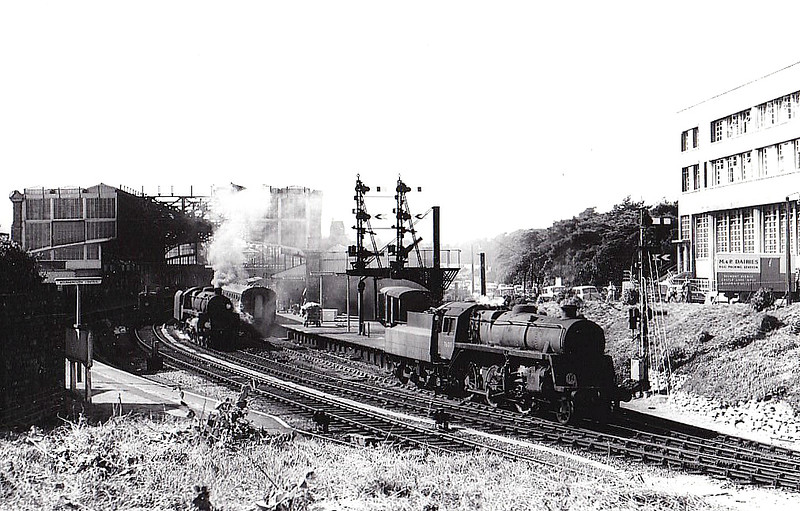 76013 - Riddles BR Class 3 2-6-0 - built 04/53 by Horwich Works - 09/66 withdrawn from 70F Bournemouth, where seen.