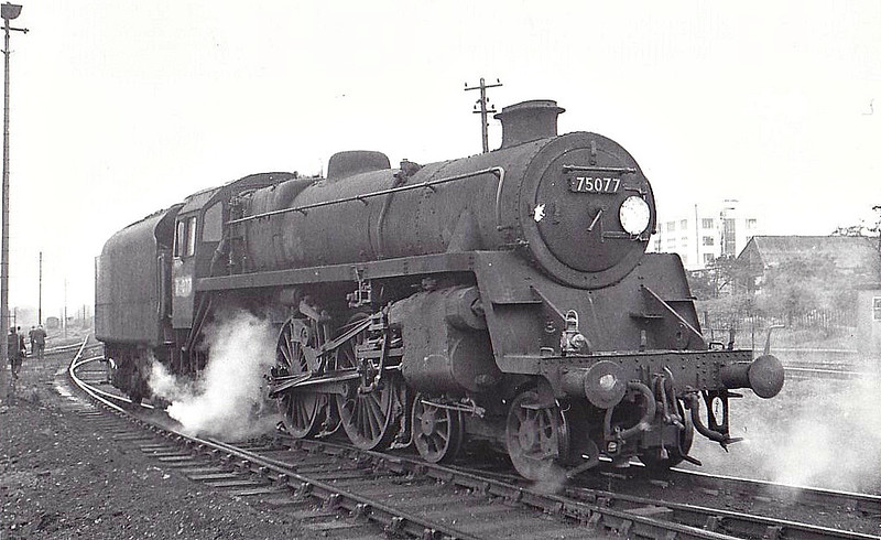 75077 - Riddles BR Class 4 4-6-0 - built 12/55 by Swindon Works - 07/67 withdrawn from 70D Eastleigh.