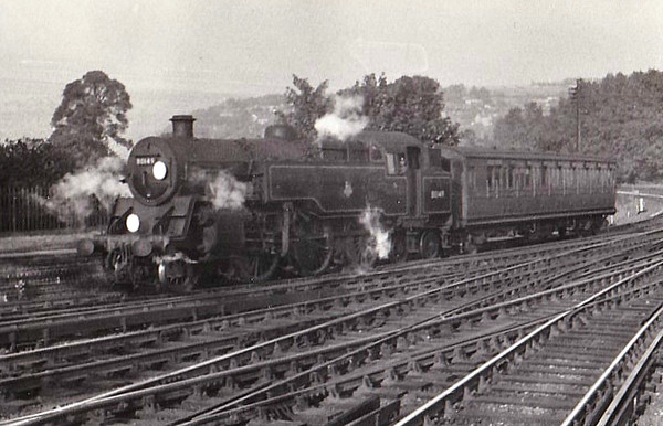 80149 - Riddles BR Class 4 2-6-4T - built 12/56 by Brighton Works - 03/65 withdrawn from 75B Redhill.