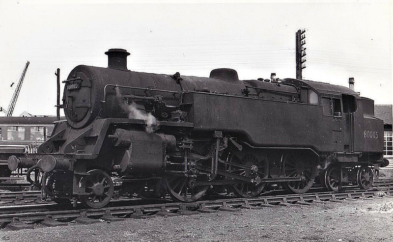 80005 - Riddles BR Class 4 2-6-4T - built 11/52 by Derby Works - 08/66 withdrawn from 66A Polmadie.