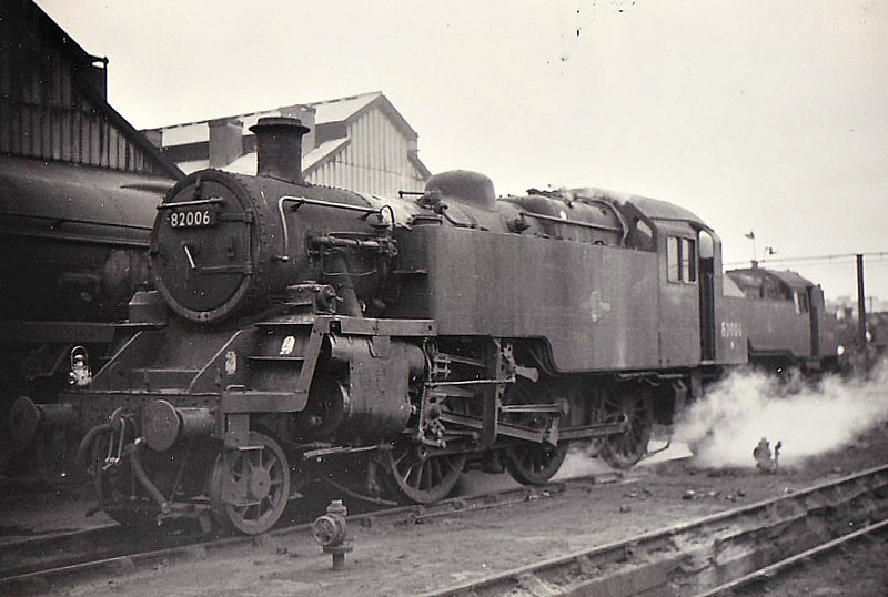 82006 - Riddles BR Class 3 2-6-2T - built 05/52 by Swindon Works - 09/66 withdrawn from 70A Nine Elms, where seen 04/66.