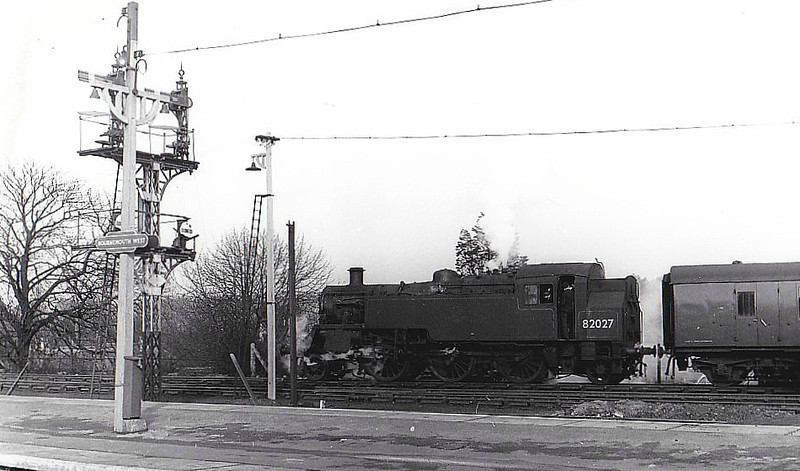 82027 - Riddles BR Class 3 2-6-2T - built 11/54 by Swindon Works - 01/66 withdrawn from 70A Nine Elms - seen here at Bournemouth West.