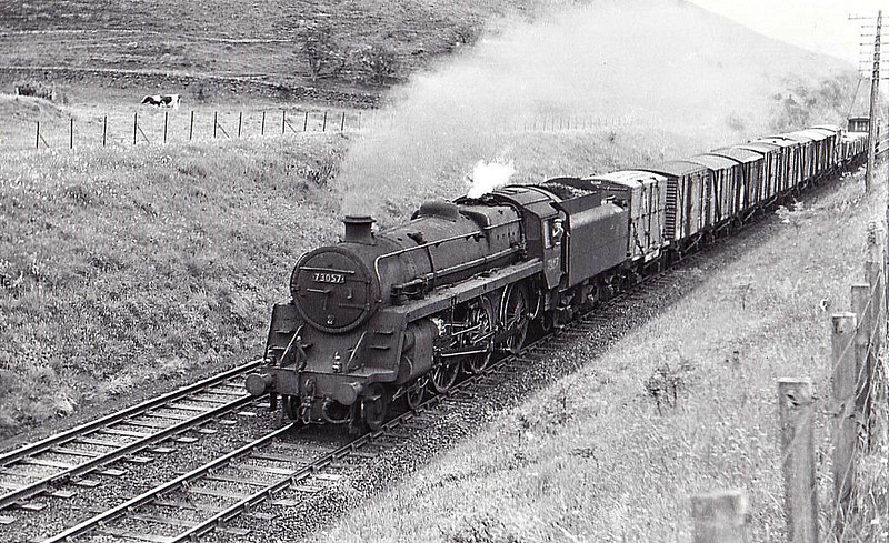 73057 - Riddles BR Class 5 4-6-0 - built 07/54 by Crewe Works - 03/66 withdrawn from 67A Corkerhill.