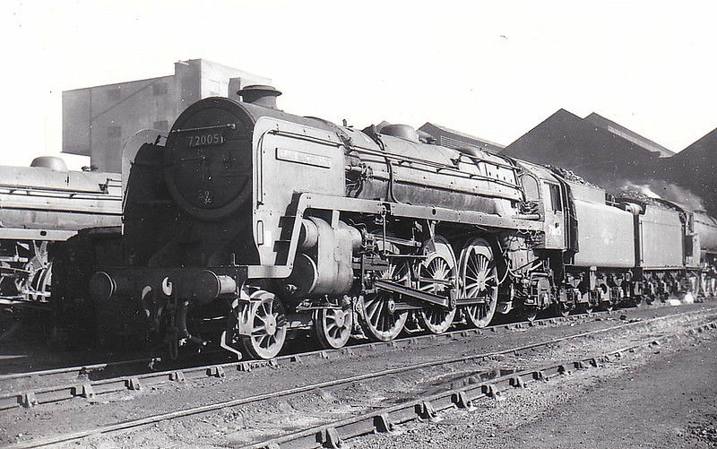 72005 CLAN MACGREGOR - Riddles BR Clan Class 4-6-2 - built 02/52 by Crewe Works - 05/65 withdrawn from 12A Carlisle Kingmoor, where seen 08/64.