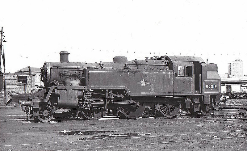 82019 - Riddles BR Cass 3 2-6-2T - built 09/52 by Swindon Works - 07/67 withdrawn from 71A Eastleigh.