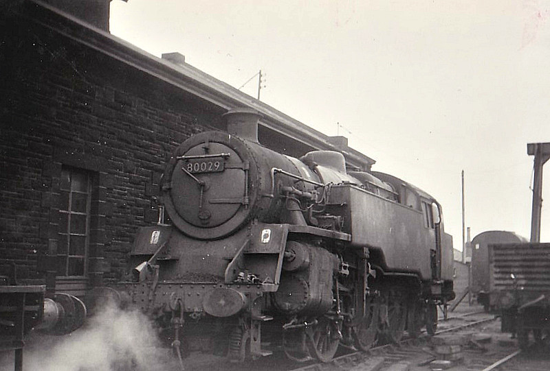 80029 - Riddles BR Class 4 2-6-4T - built 01/52 by Brighton Works - 12/65 withdrawn from 67B Hurlford, where seen 04/65.