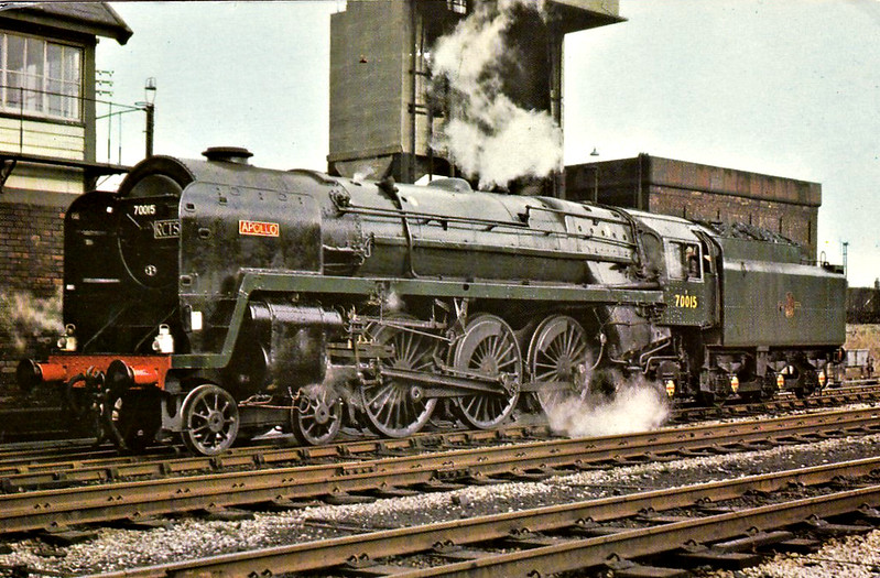 70015 APOLLO - Riddles BR Class 7 Britannia 4-6-2 - built 06/51 by Crewe Works - 08/67 withdrawn from 12A Carlisle Kingmoor.