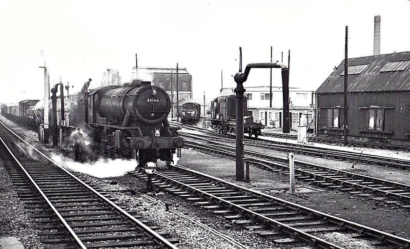 90148 - WD Class 8F 2-8-0 - built 06/43 by North British Loco Co. as WD No.7161 - 01/45 to WD No.77161, 02/48 to BR No.90148 - 03/66 withdrawn from 36C Frodingham.
