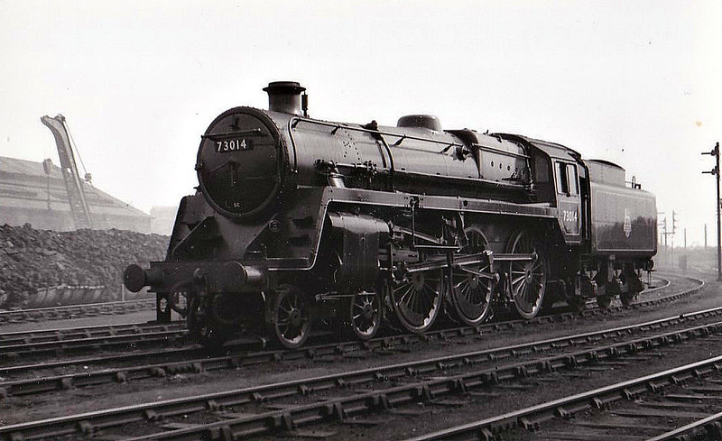 73014 - Riddles BR Class 5 4-6-0 - built 09/51 by Derby Works - 07/67 withdrawn from 9K Bolton.