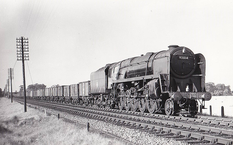 92014 - Riddles BR Class 9F 2-10-0 - built 05/54 by Crewe Works - 10/67 withdrawn from 8H Birkenhead Mollington Street.