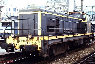 BB 64077 is seen on ECS duties at Paris Gare du Nord on 25th November 1988.