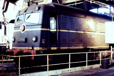 CC 65506 is seen in the maintenance shops at Paris La Plaine depot on 26th November 1988.