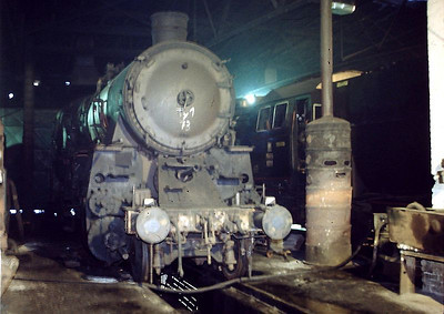 PKP 2-10-0 Ty1 73 is pictured at Wolsztyn locomotive depot on 3rd March 1994.