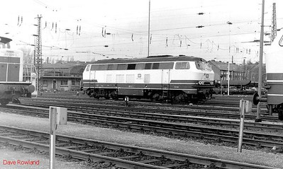 216 038, Oberhausen Osterfeld Sud depot, 26th February 1990.