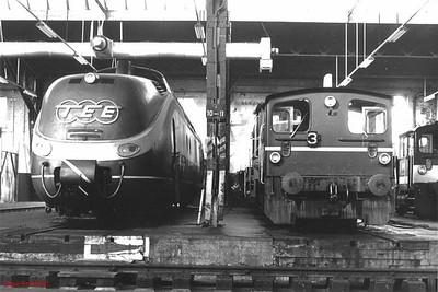 TEE 601 019, 333 088, Hamm depot, 23rd February 1990.