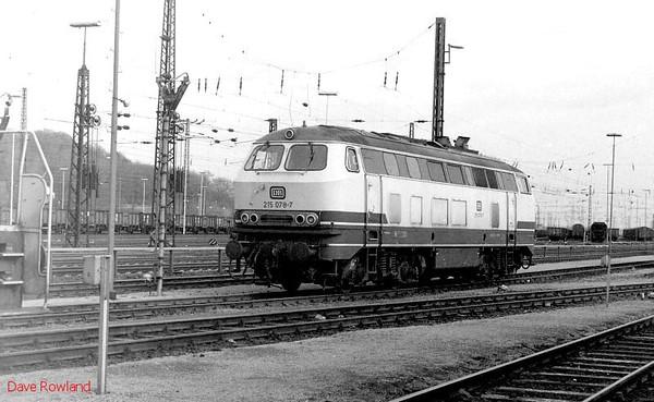 215 078, Oberhausen Osterfeld Sud depot, 26th February 1990.