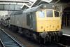25254 runs through March Station with a rake of Cartics, 07/05/82.