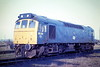 25201 is stabled on March Depot, 02/04/85. The loco was withdrawn in January 1987.