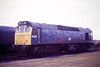 25269 sits in Hundred Road Sidings at March Depot, 19/01/86. The loco was withdrawn 3 months later.