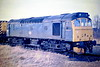 25321 is stabled on March Depot, 07/03/86. The loco was withdrawn in September 1986 and is preserved at the Midland Railway Centre.