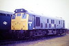 25060 parked in Hundred Road Sidings, March Depot, 26/11/85. The loco was only 1 week away from withdrawal..x