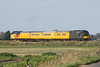 37057 brings up the rear on 1Q86 March Down Yard - Derby RTC approaching Three Horseshoes No.1 AHB ,37254 CARDIFF CANTON providing the power, 14/10/17. The train had spent the whole week in East Anglia.