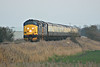 37402 and 37409 approach Horsemoor on the returning 1Z39 Wymondham - Crewe 'MNR Navigator' Railtour, tailed by 37218, 08/03/14.